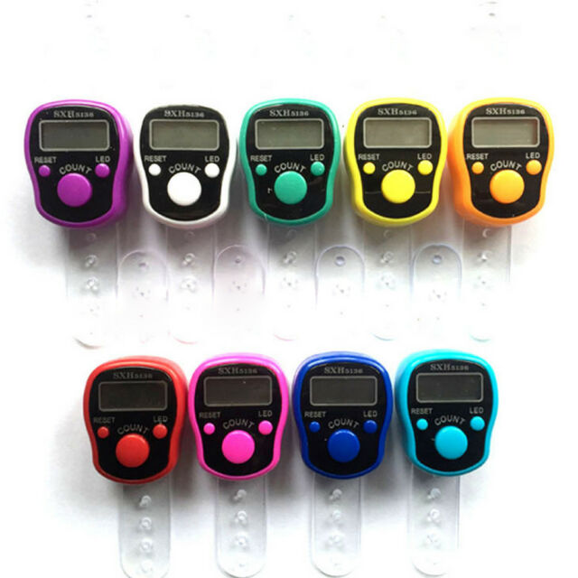 LED muslim Digital Finger Ring Tally Counter Hand Held Knitting Row counter