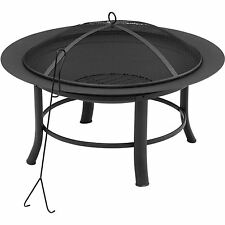 Fire Pit Table Outdoor Patio Firepit Wood Burning Fireplace Backyard Garden 28""