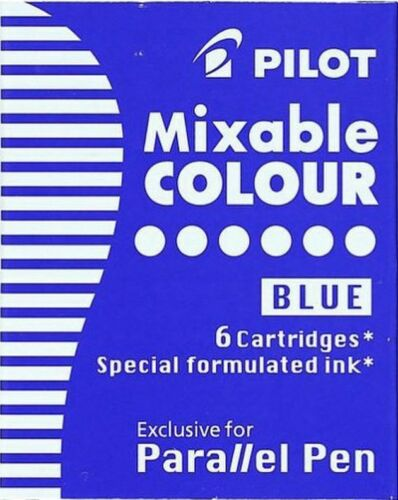 Packs of 6 Pilot IC-P3-S6 Parallel Calligraphy Fountain Pen Ink Cartridges