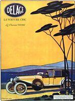 6179.automobiles Delage.la Voiture Chic.vintage Car.poster.home Office Art