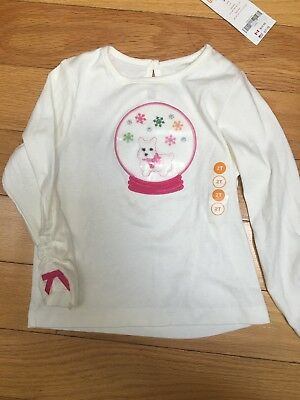 GYMBOREE CHEERY ALL THE WAY SNOW-GLOBE WESTIE DOG TEE 3 6 18 24 2T 3T 5T NWT