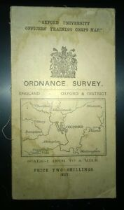 Old Ordnance Survey Maps Oxford Witney /& District /& map of Blandon 1893 S236 New