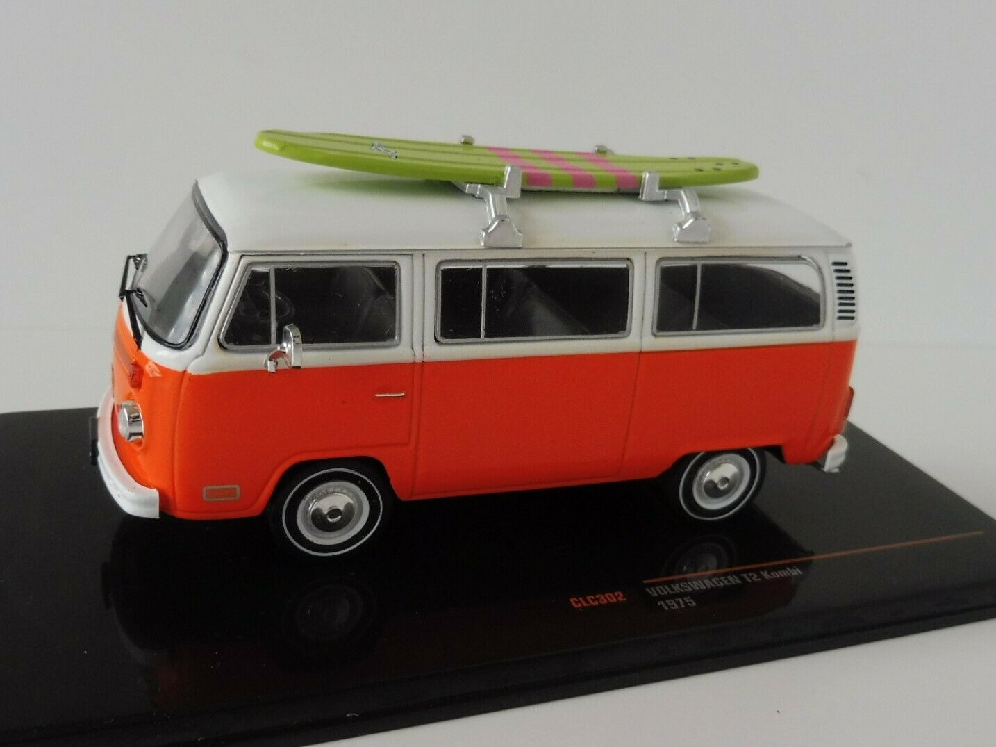 40% de descuento VW t2 coche familiar 1975 naranja surfboard 1 43 ixoclc ixoclc ixoclc 302 Type autobús volkswagen descubrimos Ixo  envío gratis