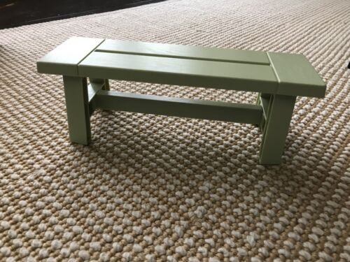 """American Girl Blaire/'s farmhouse restaurant green bench seat NEW 18/"""" doll"""