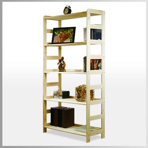 En Bois étagère étagère de bibliothèque étagère de bureau étagère de mâchoire 5 sols 166x83x33 r-10