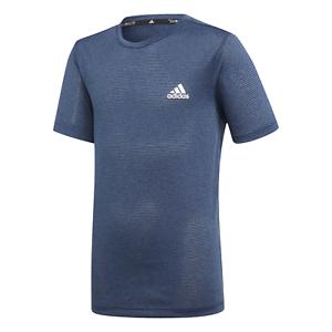 Adidas-Core-ninos-Sport-ocio-Training-camisa-textured-t-shirt-azul