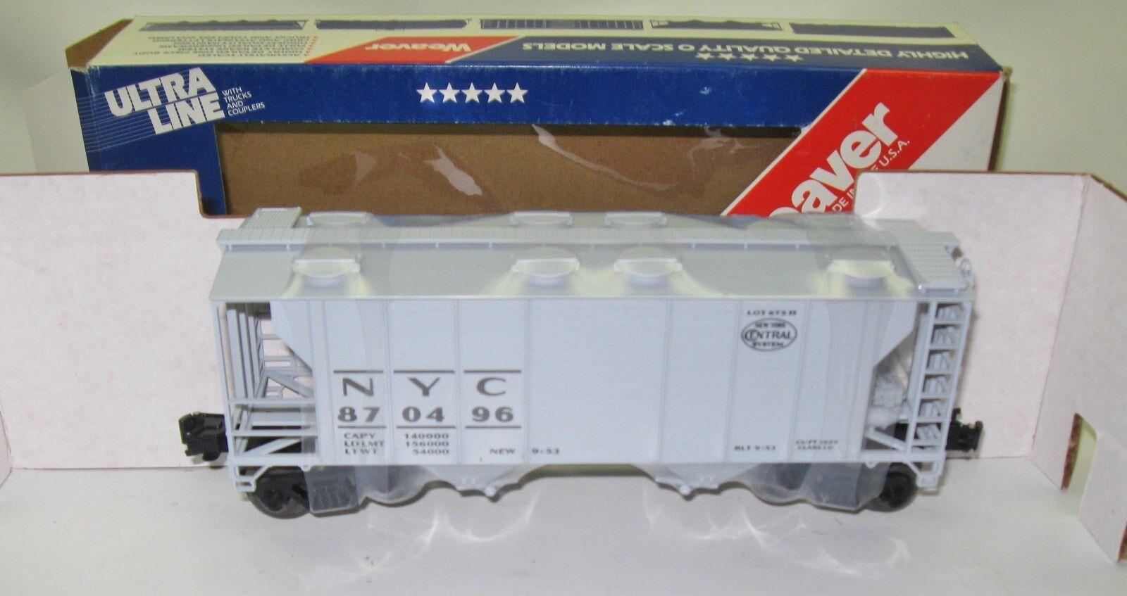 New Weaver Ultra Line PS2 - 34' Covered Hopper Hi-Rail New York Central