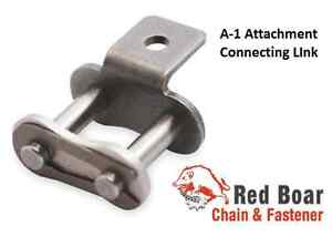 Details about #40-A1-C/L Roller Chain Connecting Link A-1 Attachment Qty 5