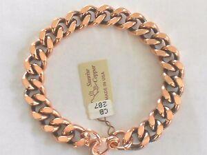 NEW-Solid-Copper-9-034-Heavy-Chain-Link-Bracelet-Arthritis-Relief-Folklore