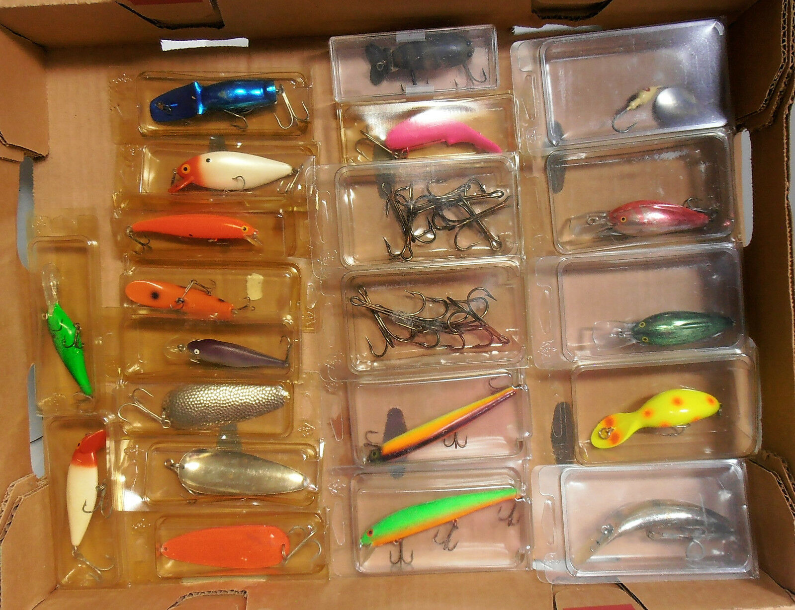 Lot of Misc Fishing Spoons Jigs Lures Treble Hooks Used Condition Varies