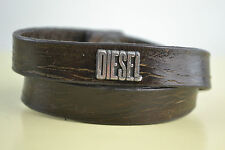 Diesel Akaddouri Armband Bracciale bracelet used look Braun Leder Leather