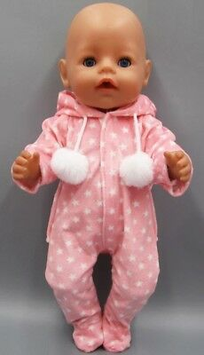 Onessis Puppenkleidung Rosa 43 Cm Neu Neueste Technik Baby Born/sister Zb