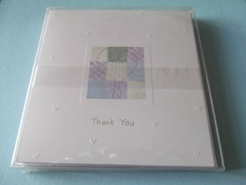 Wedding Thank You cards with Embossed /& Foil finish pack of 8