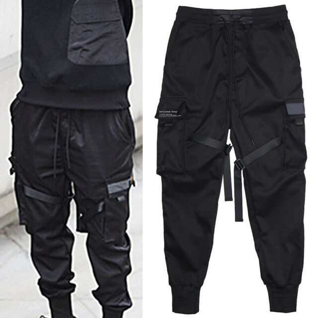 Sweatpants Men Overalls Streetwear Lightweight Hip Hop Harem Pants Casual Joggers Trousers