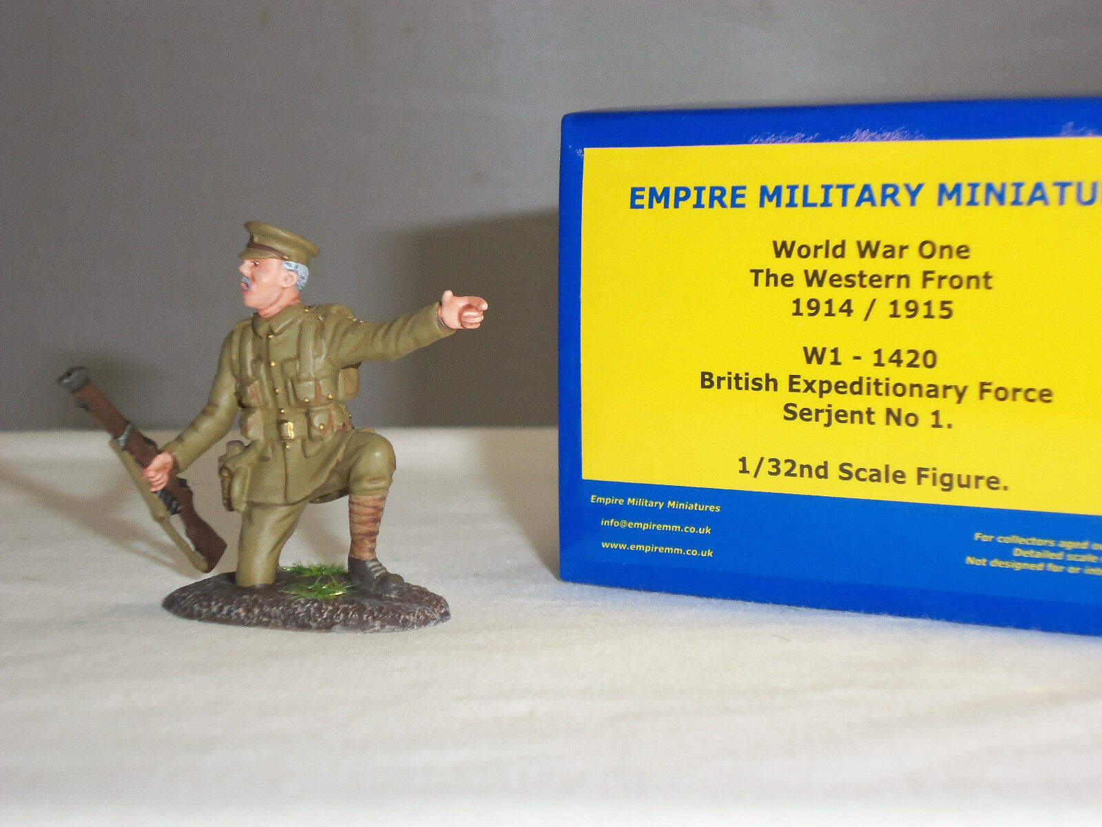 EMPIRE W1-1420 BRITISH EXPEDITIONARY FORCE SERGEANT METAL TOY SOLDIER FIGURE