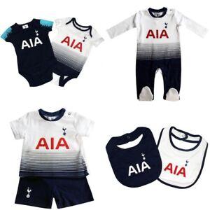 new arrival 28ff7 89c77 Details about Tottenham Hotspur Baby Kit Baby grow Sleepsuit Vest Spurs New  2018/19 Kit Design