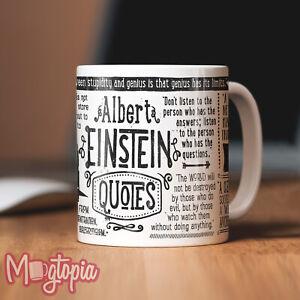 albert einstein quote mug birthday work office funny coffee gift