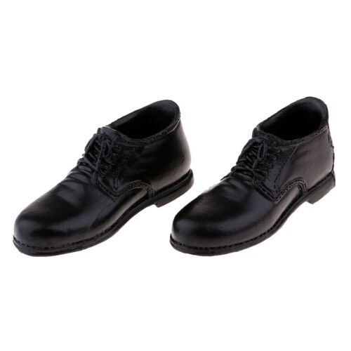1:6 Model Man Black Leather Shoes for 12/'/' Phicen Kumik Action Figures Body