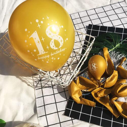 10Pcs//Set Black Balloons Wedding Party Baloons Gold Birthday Party Decoration