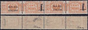 R-S-I-PACCHI-1944-50-Cent-n-40-40a-COPPIA-VARIETA-039-Cert-FERRARIO-285