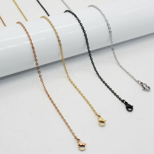 """100pcs lots Wholesale Silver//Gold Stainless Steel Rolo Necklace 1/""""Extender Chain"""