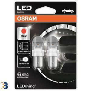 OSRAM-LEDriving-P21-5W-380-12V-2W-BAY15d-Rouge-Ampoules-de-frein-1557R-02B-SET