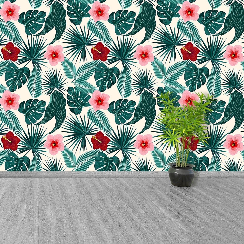 Fototapete Selbstklebend Einfach ablösbar Mehrfach klebbar Monastera-Blätter