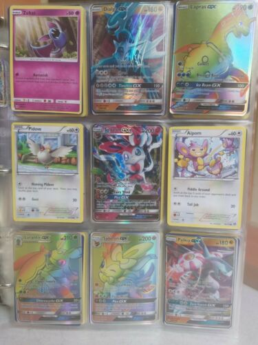 Commons GX Lot Of 18 Pokemon Cards Megas Trainers Holo Nice Mix