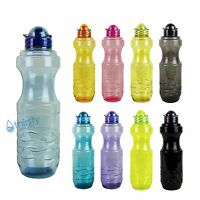 1 Liter Sports Water Bottle Plastic Drinking Canteen Gym Jug Container H2o 34 Oz