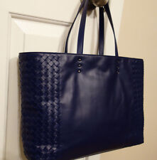 100% Authentic Brand New Bottega Veneta Open Tote in Atlantic Blue Color BNWT