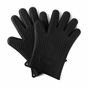Heat Resistant Silicone Kitchen Oven and BBQ Gloves  UK Seller - <span itemprop='availableAtOrFrom'>Poole, United Kingdom</span> - Heat Resistant Silicone Kitchen Oven and BBQ Gloves  UK Seller - Poole, United Kingdom