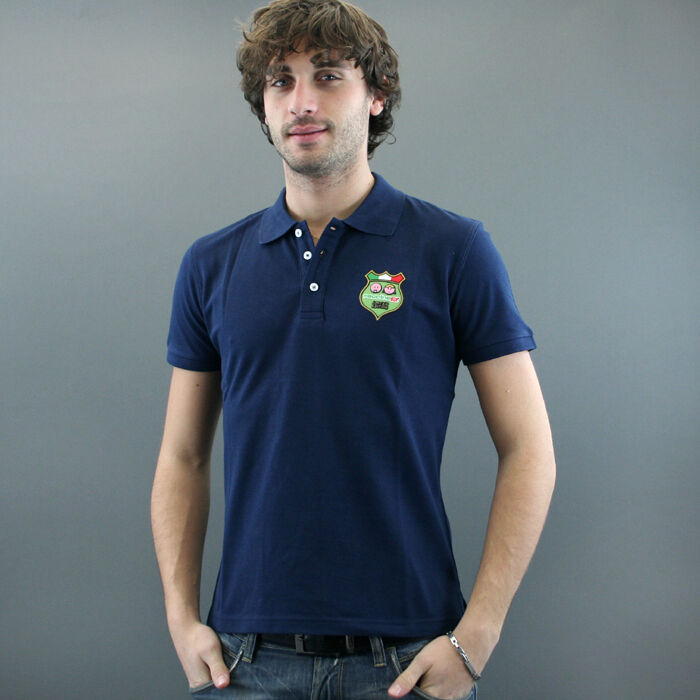 Faccinep POLO M M mod. LIMITED DEEJAY bluee