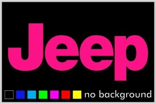 2 Jeep Sticker Vinyl Decal Wrangler CJ YJ Car Truck Wheel Wall Laptop Window