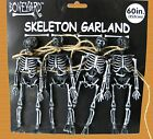 Gothic SKELETON SKULL GARLAND SWAG Halloween Party Decorations Bones Props-BLACK