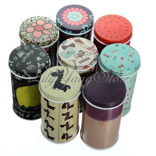 New Catoon Cylinder Small Iron Roll Memo Pad Note Paper Tea Storage Box Tin Case