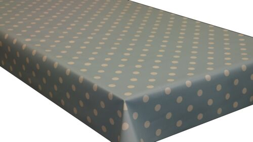 Polka Dot PVC Vinyl Tablecloth Wipe Clean Oilcloth ALL SIZES  Premium Quality