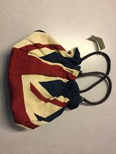 NEW Past Times Union Jack Tapestry Bag NWT 4th of July Red White Blue Flag N10
