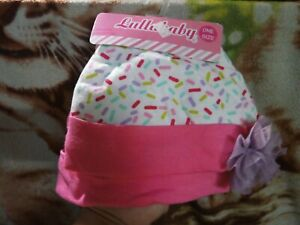 CLOSEOUT-SALE-Imported-FROM-USA-Lullababy-2-Pc-Bonnet-Multicolor-amp-Pink-2