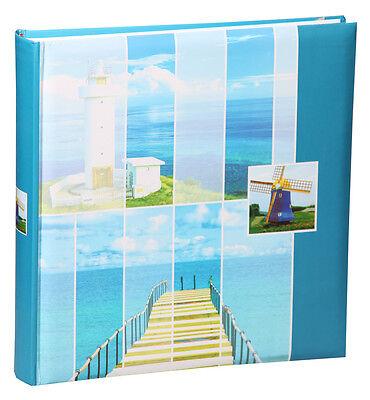 Holiday Fotoalbum in Blau 30x30 cm 100 Seiten Jumbo Album Urlaubsalbum