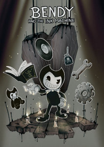 BENDY /&THE INK MACHINE BENDY WITH HAT POSTER  VINYL WALL STICKER VARIOUS SIZES