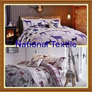 Catherine Lansfield Grampian Stag Brushed Cotton Duvet Set