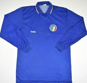 Details about 1986-1990 ITALY DIADORA HOME FOOTBALL SHIRT (SIZE M)
