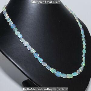 Opal-Athiopien-Halskette-46cm-GUNSTIGER-mit-PREISVORSCHLAG