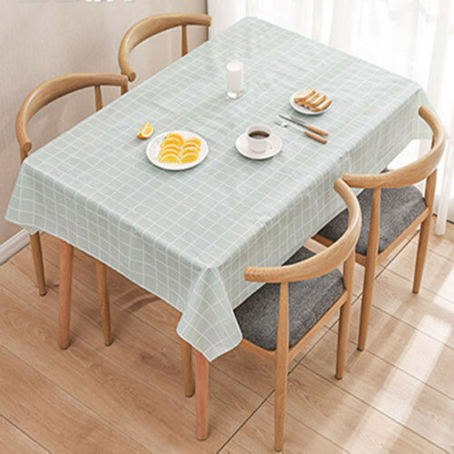 Wipe Clean Tablecloth Waterproof Table Cover Protector For Kitchen Dining Table