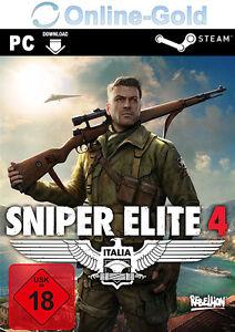 Sniper Elite 4 Key - STEAM Digital Code - PC Game Sniper Elite IV [EU][DE]