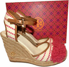 1254b3666 item 8 Tory Burch SHAW Wedge Sandals Pink Striped Espadrilles Pumps Shoe  7.5 -Tory Burch SHAW Wedge Sandals Pink Striped Espadrilles Pumps Shoe 7.5