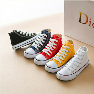 UK-BOYS-GIRLS-CANVAS-SHOES-CHILDRENS-CASUAL-PUMPS-PLIMSOLLS-SNEAKERS-TRAINERS