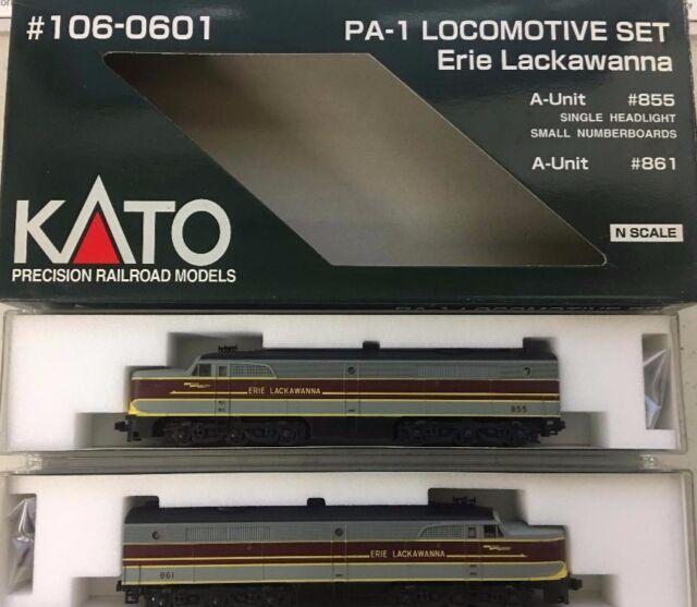 Kato N Scale PA-1 Loco Set Erie Lackawana #106-0601 A-Unit #855, B-Unit #861