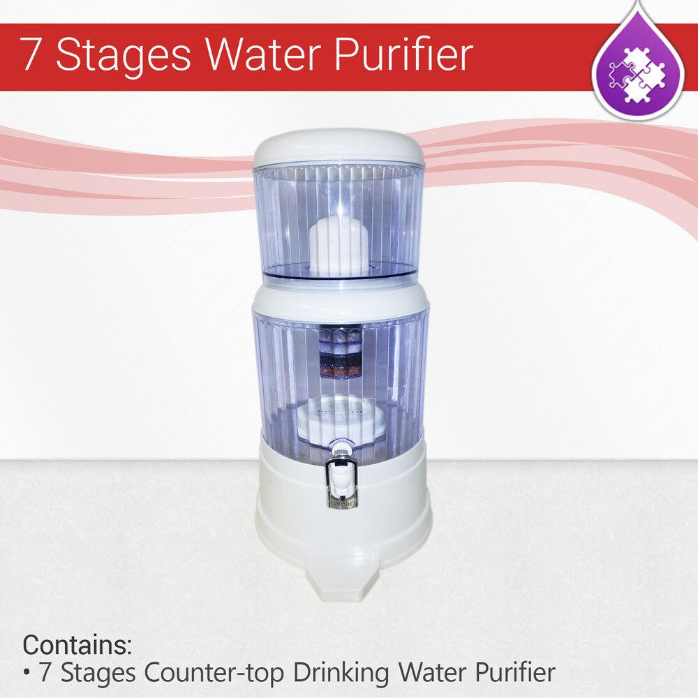 Max Water USA - 6 gallon countertop Ceramic PH water filter purifier - BPA Free