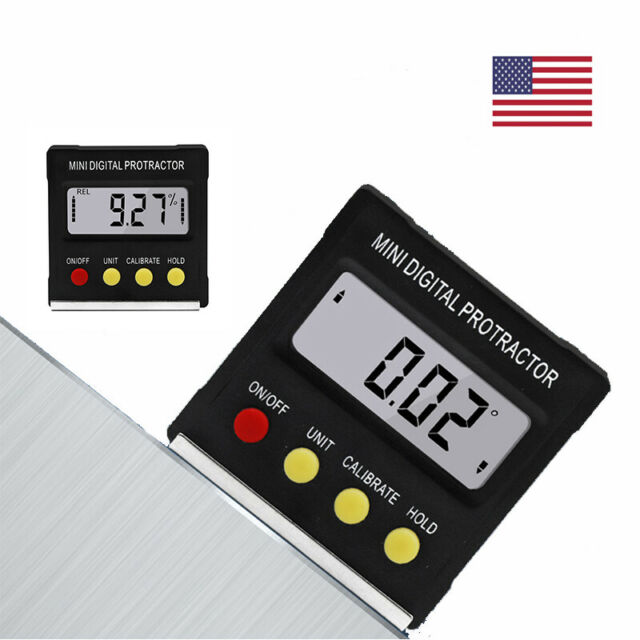 Magnetic Digital Inclinometer LED Level Box Gauge Angle Meter Finder Protractor#